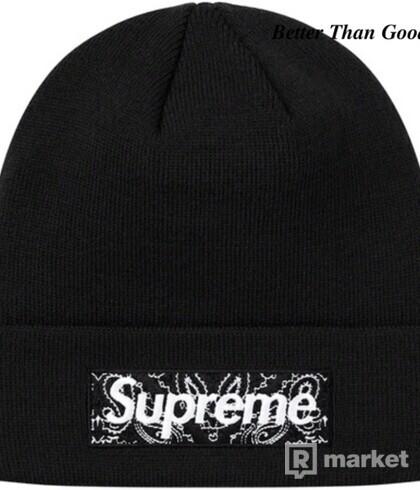 Supreme New Era Box Logo Beanie (FW19) Black