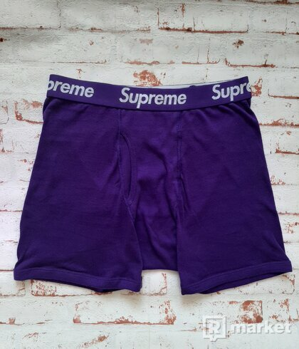 Supreme Hanes Boxers Purple