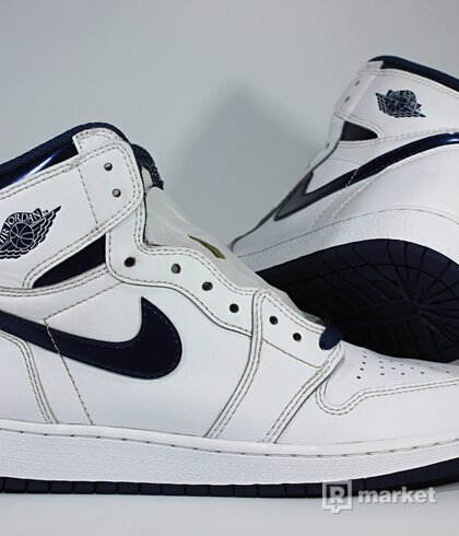 "Air Jordan Retro 1 High OG ""Metallic Navy"""