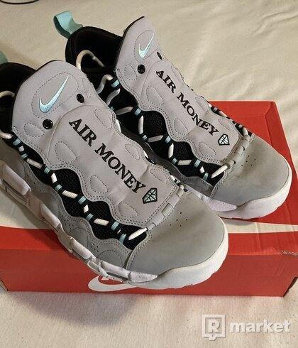 Nike Air More Money Wolf Grey Island Green