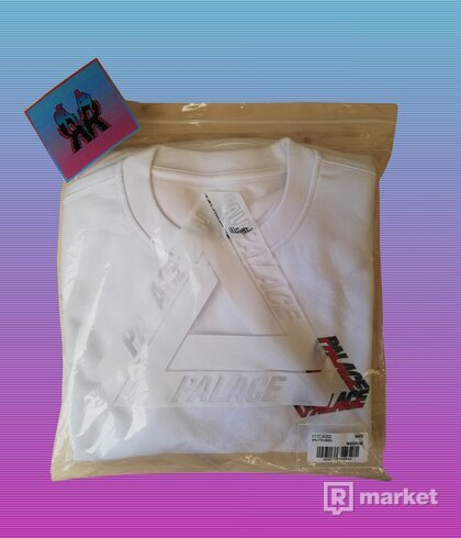 "! STEAL ! PALACE SPLIT P3 CREWNECK ""WHITE"""