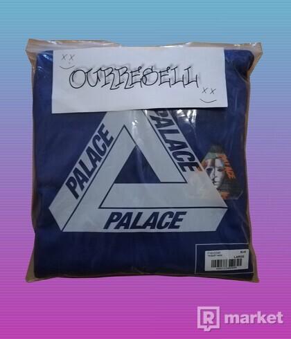 PALACE TRI-BURY HOOD BLUE DS