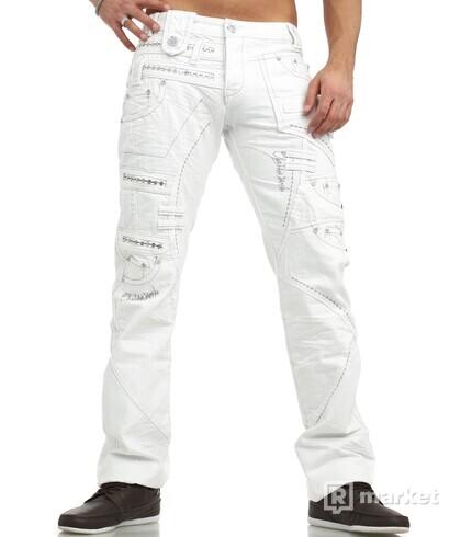 Pánske džínsy biele - DOPRAVA ZADARMO