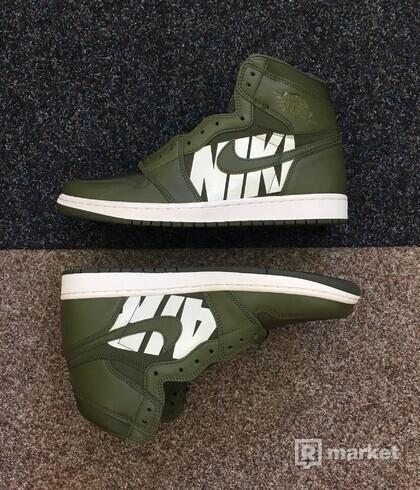 Nike Air Jordan 1 High Olive Canvas