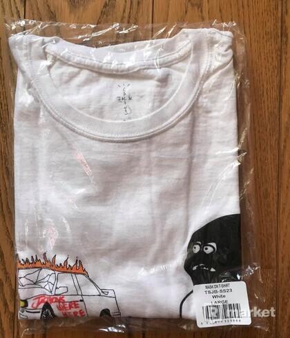 Travis Scott JACKBOYS Mask On T-Shirt White