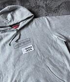 Supreme KAWS Chalk Logo Hooded Sweatshirt Heather Grey