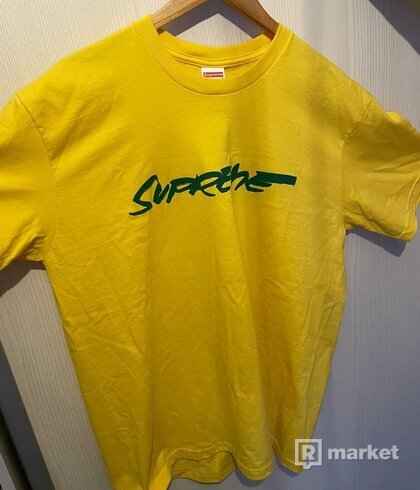 Supreme Futura Logo Tee Yellow