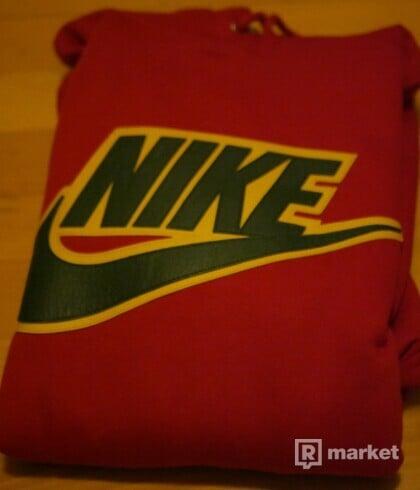 Supreme Nike Leather Applique Hooded Sweatshirt XL
