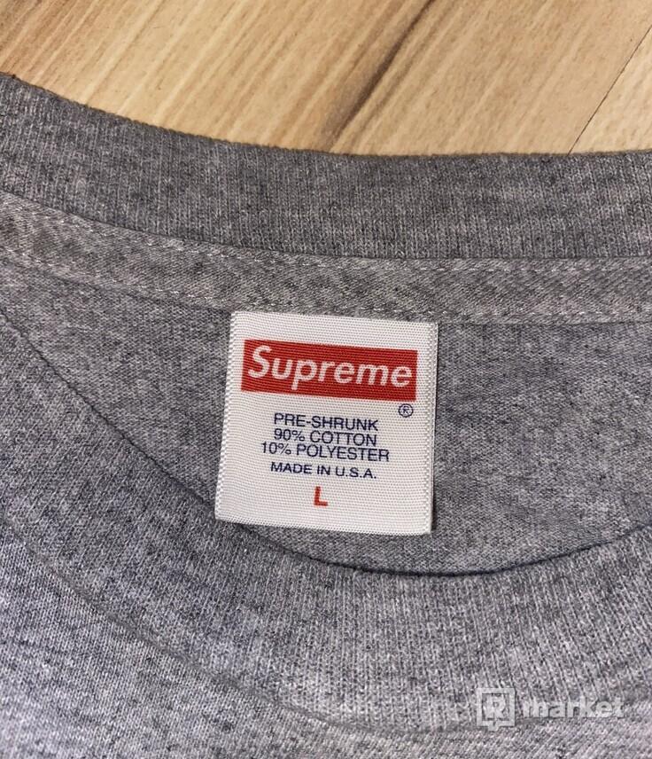 Supreme bottle cap tee grey