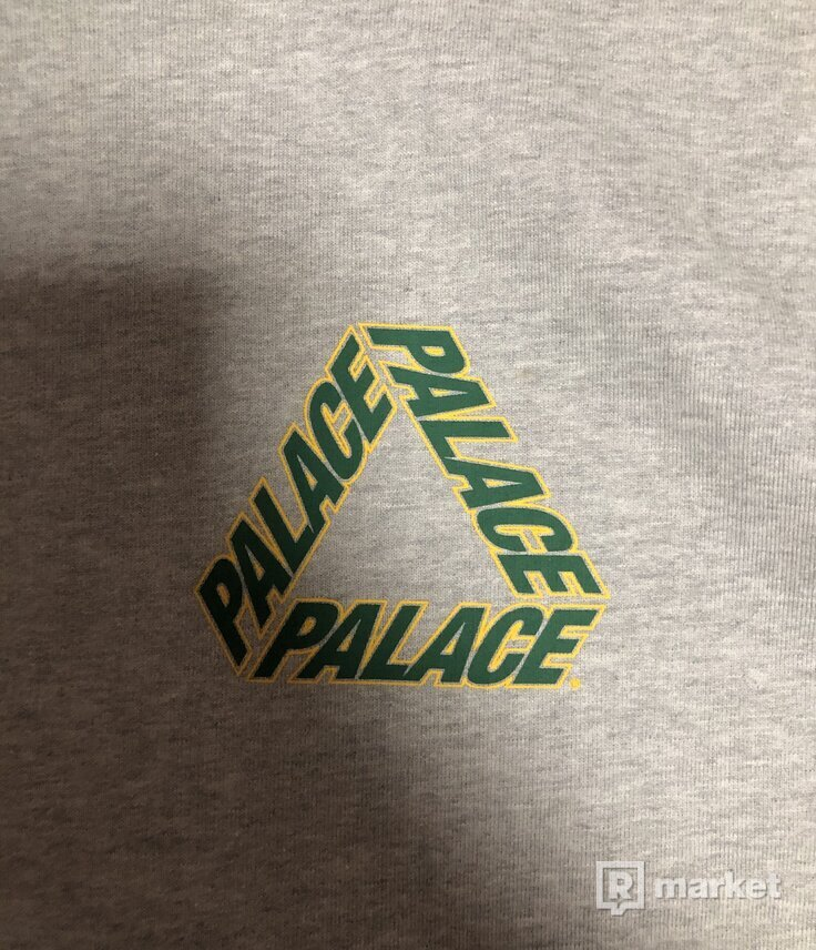 Palace P3 Team Hood Grey Marl