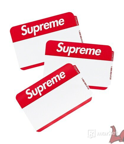 Supreme Name Badge Stickers