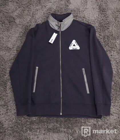 Palace Zyme Shell Funnel Track Top Navy Grey
