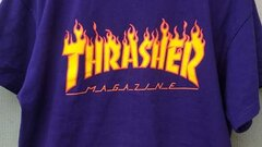 Thrasher flame logo tee (purple)