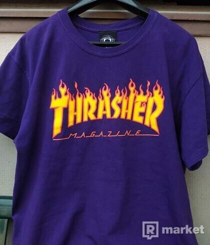 Thrasher flame logo tee (purple)