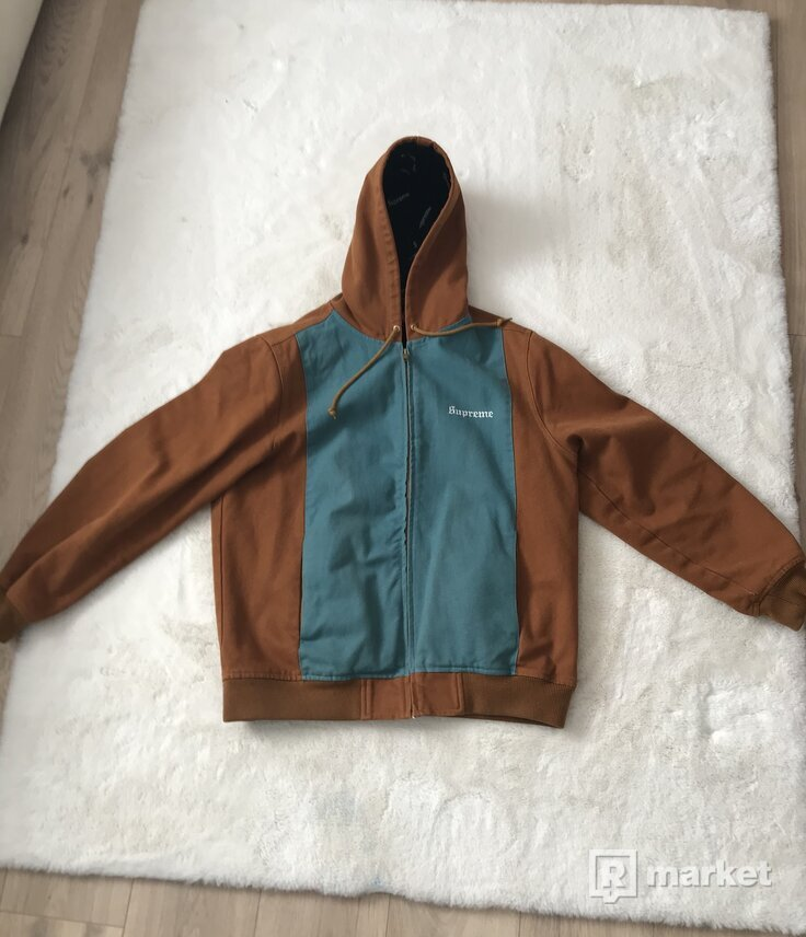 Supreme 2 tone hooded jacket