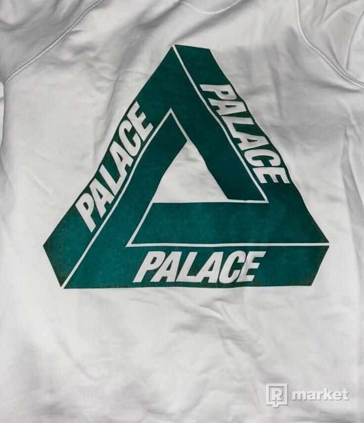 Palace Flocka Hoodie White