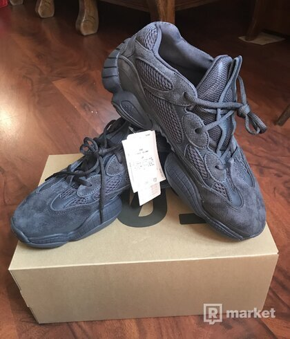 "Adidas Yeezy 500 ""Utility black"" UK 9,5"