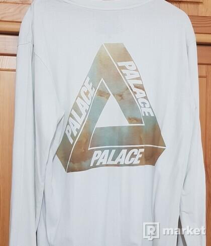 Palace Marble Tri-Ferg Longsleeve Tee white