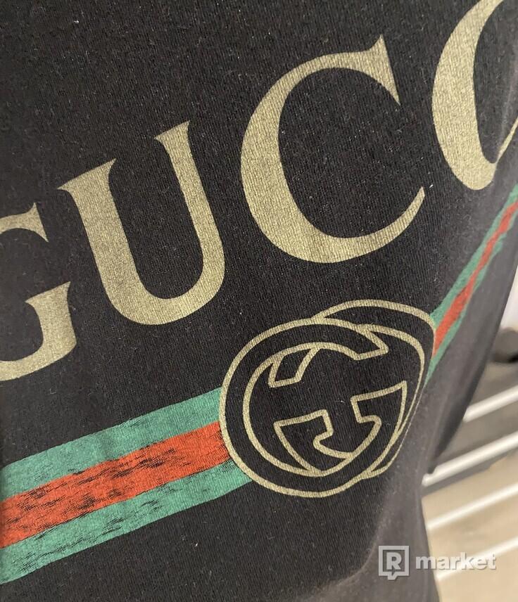 GUCCI Logo Tee Black