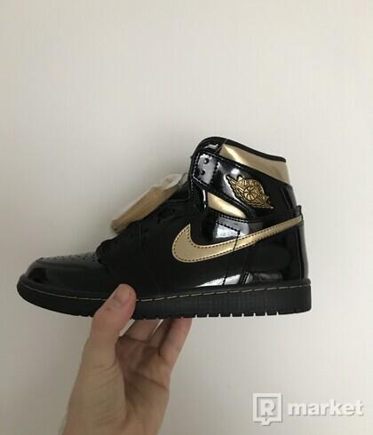 Jordan 1 BLACK METALLIC GOLD US 7