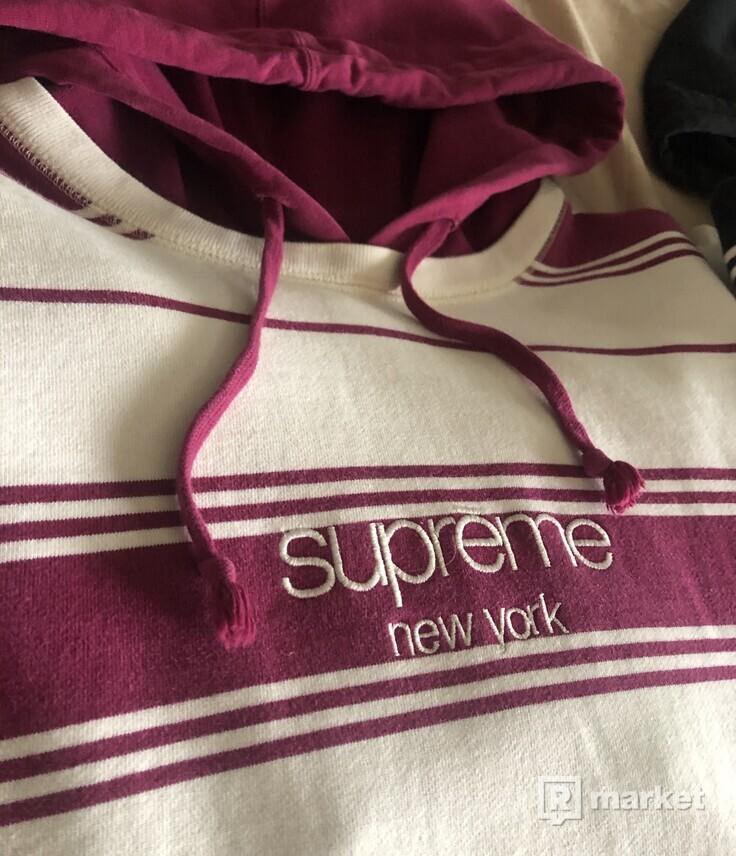 Supreme stripped hoodie