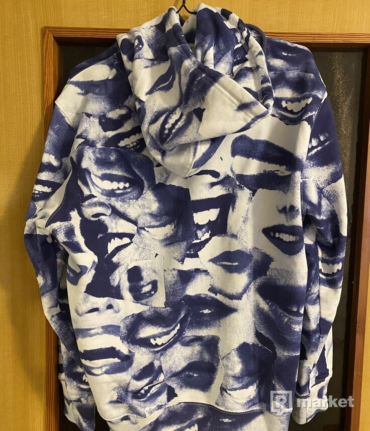Palace john & molly mouf hoodie blue