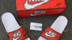 Custom Nike slides Cartoon