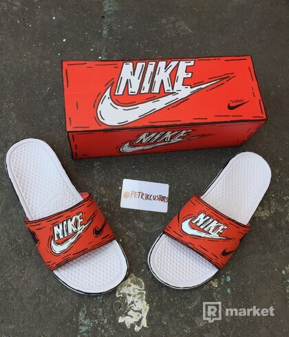 Custom Nike slides Cartoon