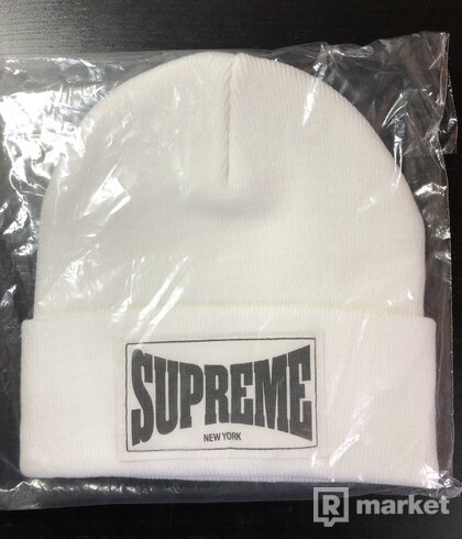 Supreme čepice wowen label beanie