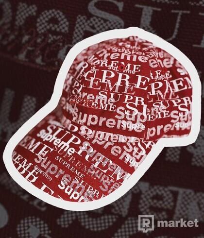 Supreme Logo Pattern 6 - Panel Dark Cap