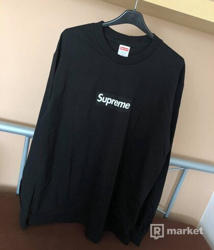Supreme Box Logo L/S Tee Black Medium