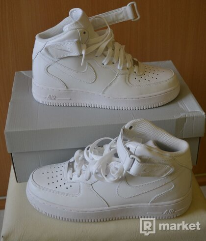 nike air force 1 mid '07 white – uk6,5
