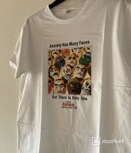 Anxiety Has Many Faces Tee - White