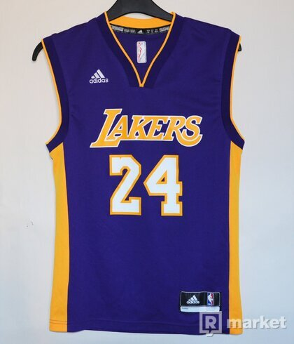 NBA Men's Los Angeles Lakers Kobe Bryant #24 Climacool Gold Swingman Jersey