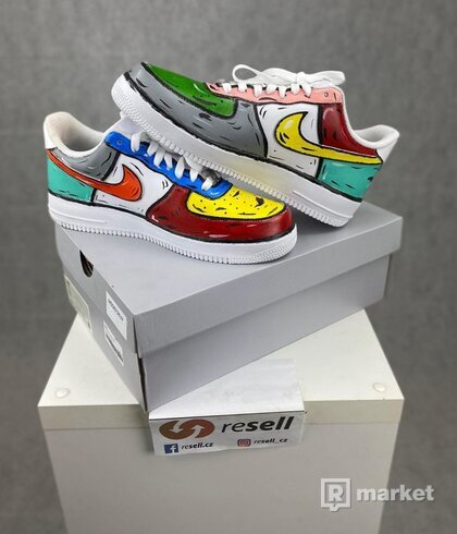 Nike Air force low cartoon custom