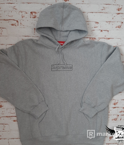Supreme Kaws Box Logo Hoodie Grey