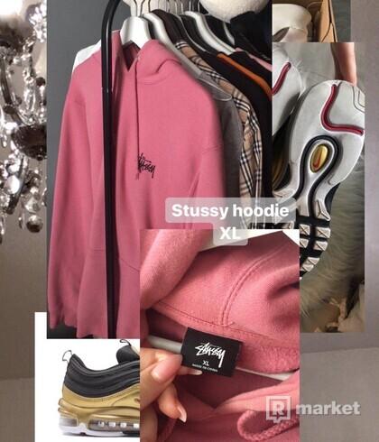 Stussy pink hoodie