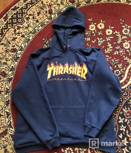 Thrasher hoodie (tmavě modrá)