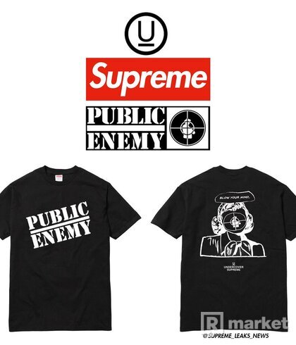 supreme public enemy tee