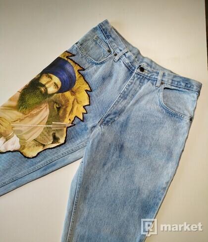 Custom Lion jeans