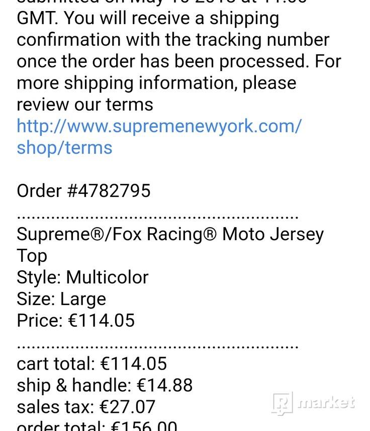 Supreme Fox Racing Moto Jersey Top Multicolor