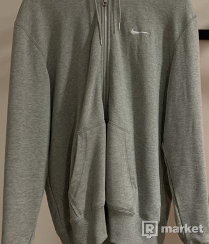 Nike grey zip hoodie