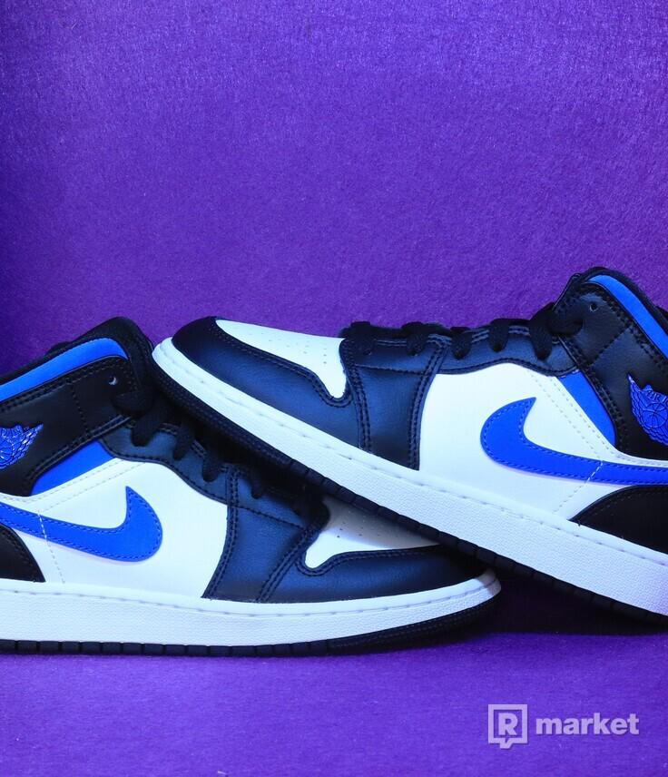 "Nike Air Jordan  1 Mid ""White Black Royal"""