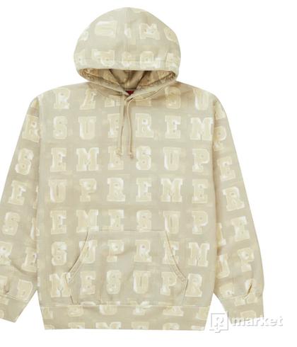 Supreme Blocks Hooded Sweatshirt Tan