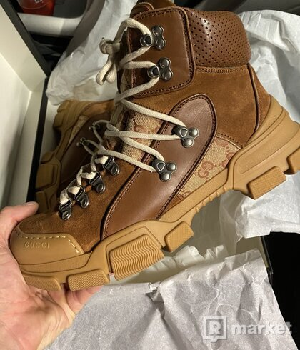 Gucci leather treking boots