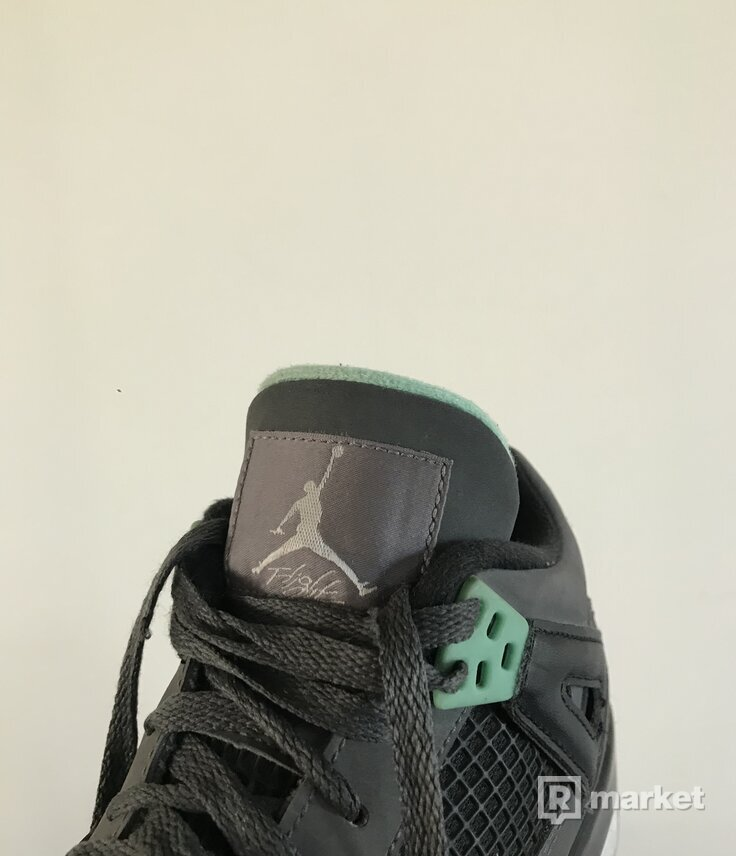 air jordan 4 retro (gs) green glow
