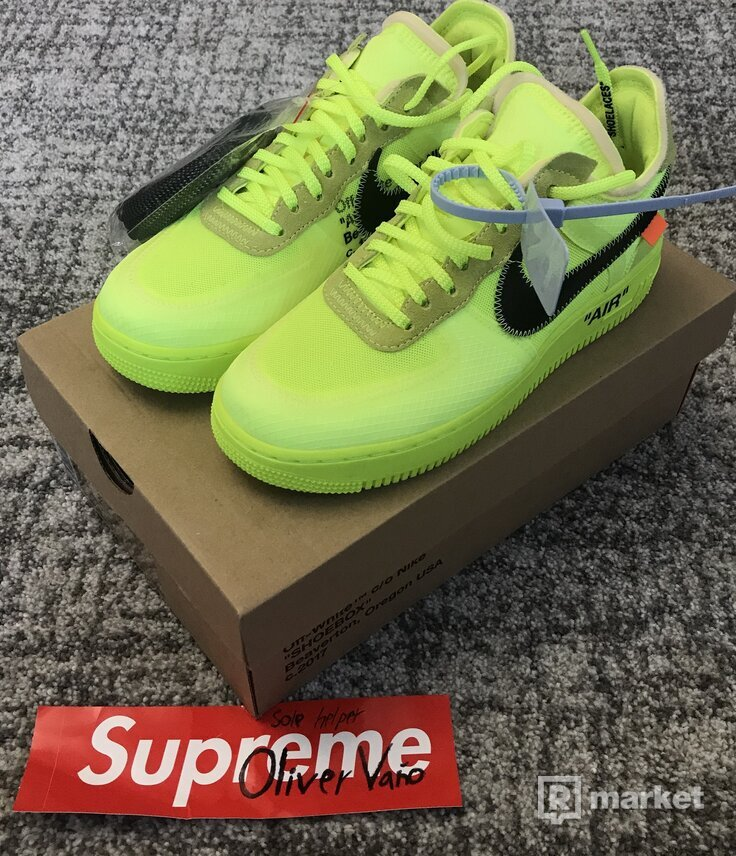 Nike Air Force 1 Off White Volt