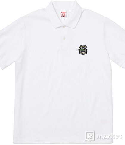Lacoste X Supreme velour polo
