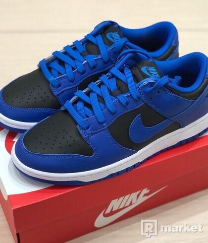 Nike Dunk Low Retro Black Hyper Cobalt