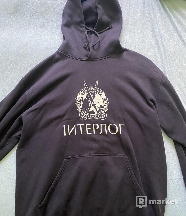 Vetements Interpol Hoodie 2020